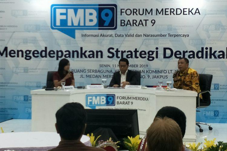 Dirjen Pendidikan Islam Kemenag Komaruddin Amin di Gedung Kominfo, Jakarta