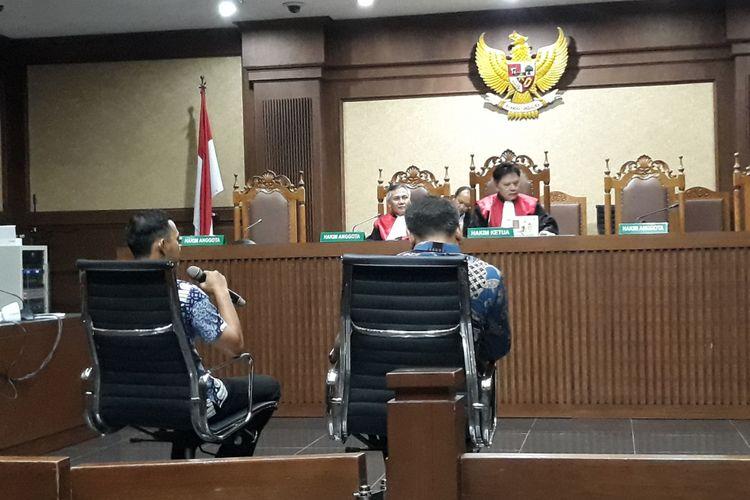 Agus Gunawan dan Irvanto Hendra Pambudi di Pengadilan Tipikor Jakarta, Rabu (26/9/2018).