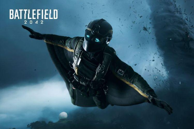 Ilustrasi Wingsuit yang bisa dipakai pemain di Battlefield 2042.
