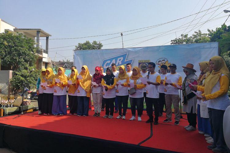 Deklarasi RW Ramah Anak yang digelar di di Perumahan Griya Melati Mas, Jatimulya, Cilodong Depok, Jawa Barat, Minggu (20/10/2019)
