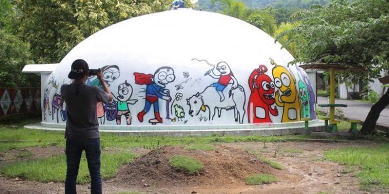 Rumah dome di kampung Teletubbies, Sleman.