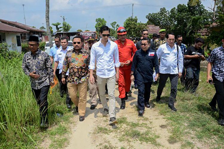 Wakil Ketua Komisi IV DPR RI, G Budisatrio Djiwandono saat memimpin tim kunjungan kerja ke Rambo Panjang, Kabupaten Kampar, Riau