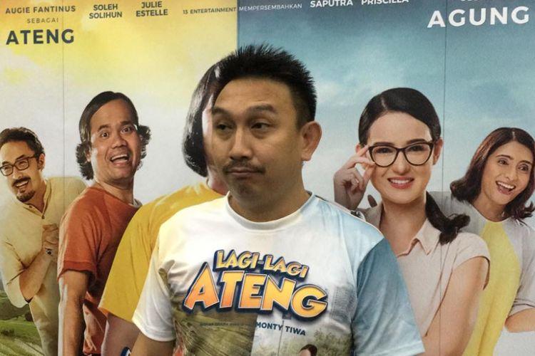 Augie Fantinus berpose di Rutan Salemba, Jakarta Pusat, Selasa (8/1/2019). Para pemain dan kru film Lagi-lagi Ateng mengadakan media gathering di Rutan Salemba.