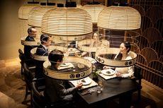 Tamu Makan dalam Sangkar, Inovasi Baru Restoran di Tokyo Saat Pandemi