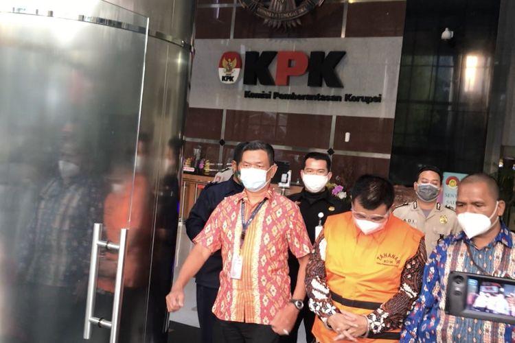 Bupati Bandung Barat Aa Umbara resmi ditahan Komisi Pemberantasan Korupsi (KPK), Jumat (9/4/2021).