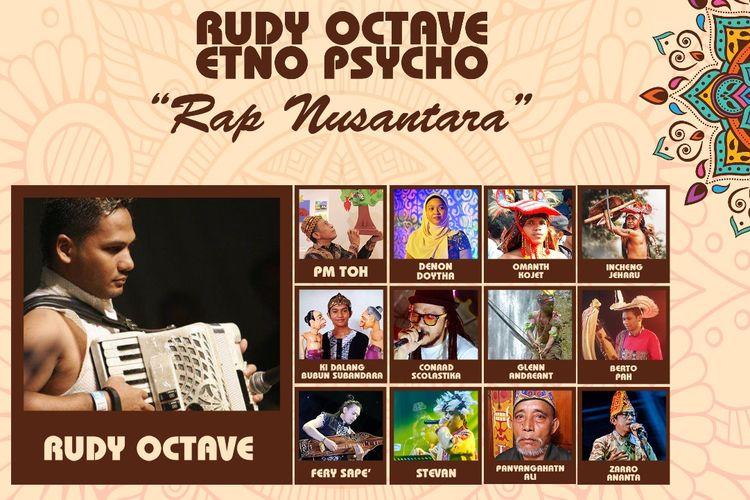 Bentara Budaya Jakarta kembali menggelar Musik Kamisan dengan menyajikan Rap Nusantara pada Kamis (14/3/2019) mulai pukul 19.30 WIB.