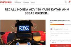 Konsumen Honda ADV 150 Ajukan Petisi Recall ke AHM