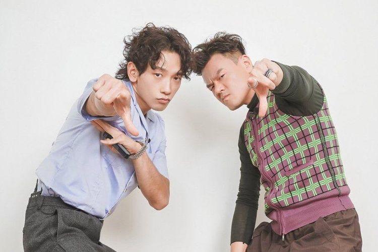 Dua superstar Kpop Rain (kiri) dan CEO JYP Entertainment Park Jin Young akan membentuk duo.