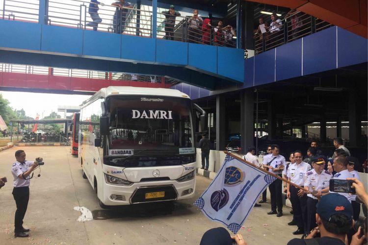Badan Pengelola Transportasi Jabodetabek (Jabodetabek) meresmikan Terminal tipe A Pondok Cabe, Tangerang Selatan (Tangsel),  Senin (31/12/2018).