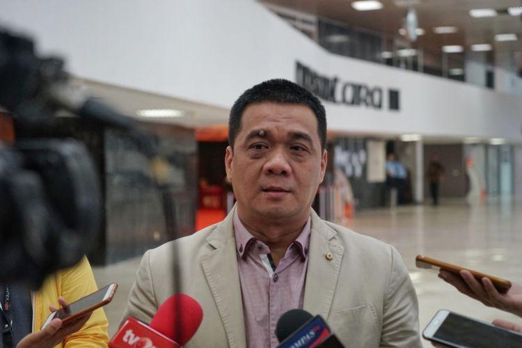 Ketua DPP Partai Gerindra Ahmad Riza Patria di Kompleks Parlemen, Senayan, Jakarta, Jumat (12/10/2018).