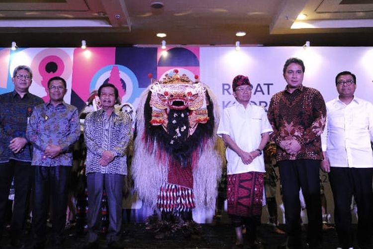 Dirjen Kebudayaan Kemendikbud Hilmar Farid dan Gubernur Bali I Wayan Koster membuka Rapat Koordinasi (Rakor) Kebudayaan di Bali (18/12/2019).