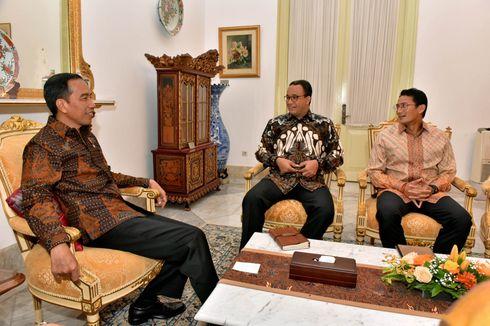 Bahas Banjir, Jokowi dan Anies-Sandi Bahas Sodetan Ciliwung hingga Waduk Ciawi