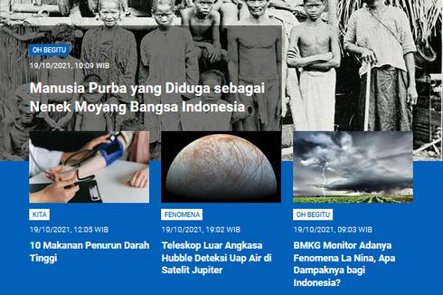 [POPULER SAINS] Moyang Bangsa Indonesia   Dampak La Nina di Indonesia