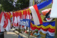 Penjual Bendera di Garut Tiarap