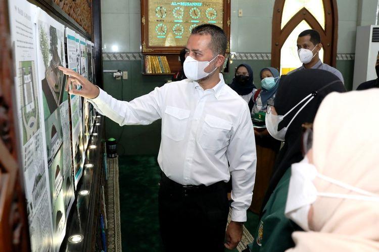 Wakil Gubernur Sumut yang juga Ketua Yayasan Haji Anif Musa Rajekshah menjelaskan soal sayembara yang mereka gelar di Masjid Al-Musannif di Perumahan Cemara Asri Sampali, Kabupaten Deliserdang pada Selasa (11/5/2021)