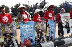 Poster Jack Sparrow, Jokowi, hingga Menteri Susi Dipampang Nelayan Saat Demo Buruh