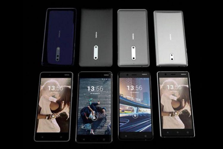 Potongan video yang diduga memperlihatkan ponsel kamera ganda dari Nokia. Ponsel dimaksud berada di posisi paling kiri di baris atas dan bawah.