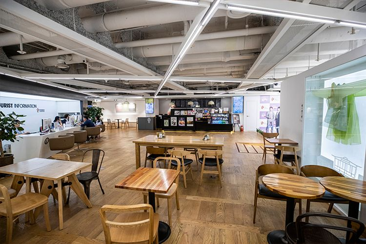 Tempat wisata di Korea Selatan - Kafe untuk bersantai di K-Style Hub, Seoul.