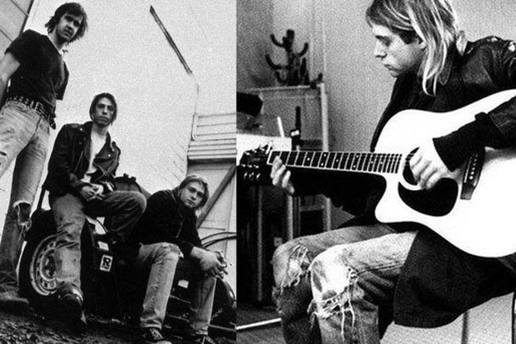 Grup rock Nirvana dan Kurt Cobain (kanan)
