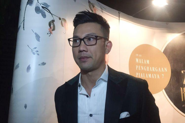 Artis peran Denny Sumargo saat ditemui di Malam Penghargaan Piala Maya 7 di Wyndham Casablanca Hotel, Jakarta Selatan, Sabtu (19/1/2019).