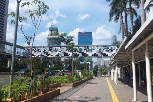 Pembangunan 3 JPO di Jalan Sudirman Terkendala Cuaca