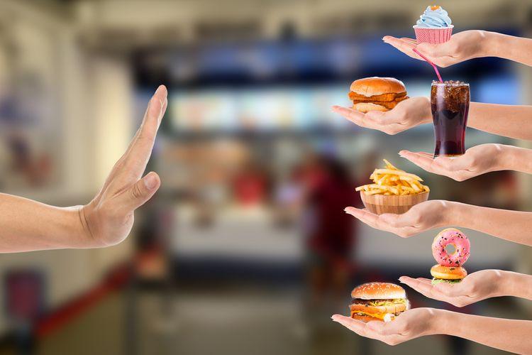 Ilustrasi makanan tinggi kolesterol