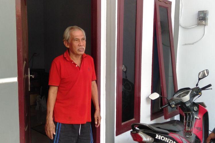 Elam (66) saat ditemui di kediamannya di Jalan Nusa Indah II Gang I, Kelurahan Malaka Jaya, Duren Sawit, Jakarta Timur, Selasa (6/7/2020)