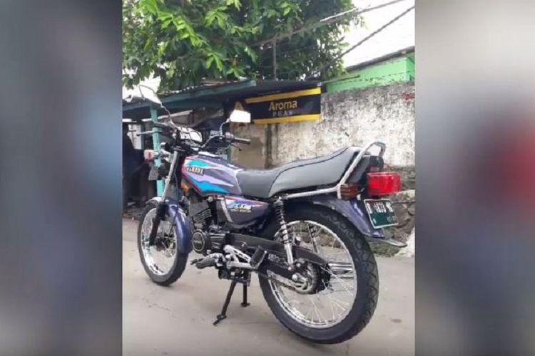 Sepeda motor Yamaha RX King yang selesai direparasi.