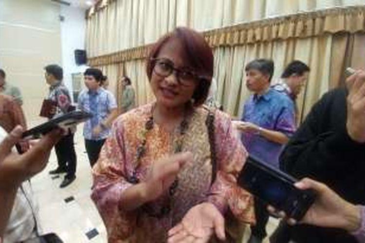 CEO XL Axiata, Dian Siswarini, Jumat (7/10/2016) usai pelantikan pejabat eselon I Kemenkominfo di Gedung Serbaguna Kemenkominfo, Jakarta.