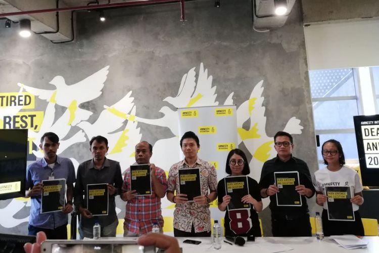 Amnesty International merilis laporan statistik tentang penggunaan eksekusi mati sepanjang tahun 2017.