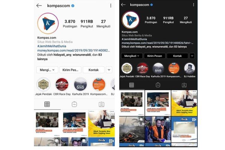 Instagram memperbarui tampilannya yang kini bisa diubah ke mode gelap.