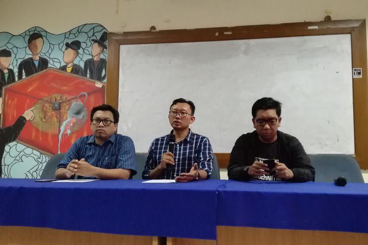 Konferensi pers Koalisi Masyarakat Sipil Selamatkan Komisi Pemberantasan Korupsi (KPK), Minggu (6/10/2019)