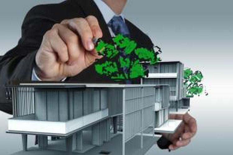 Green building butuh investasi 5 persen lebih tinggi ketimbang pembangunan konvensional.
