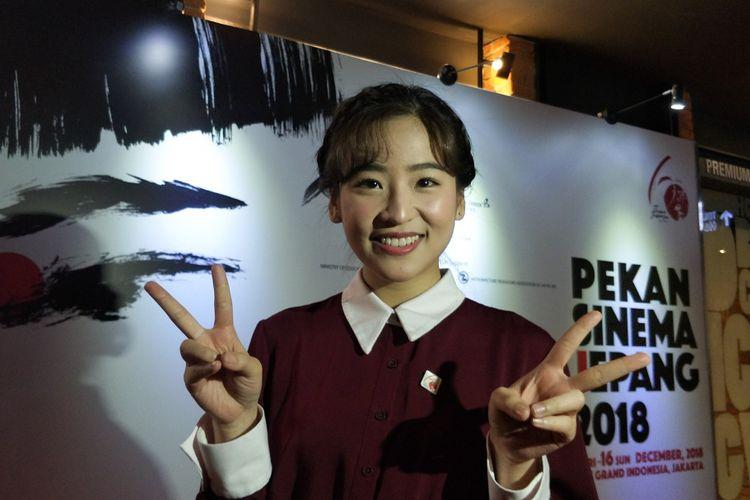 Penyanyi Haruka Nakagawa saat ditemui di Pembukaan Pekan Sinema Jepang 2018 di CGV Grand Indonesia, Tanah Abang, Jakarta Pusat, Jumat (7/12/2018).