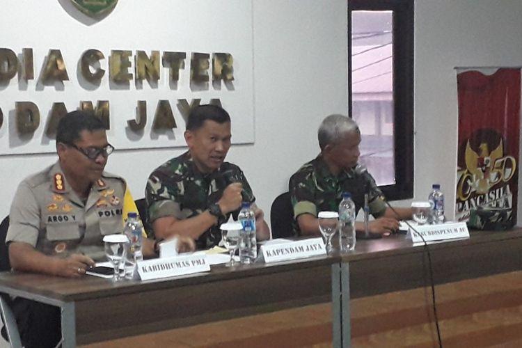 Konferensi pers kasus penembakan Letkol Cpm Dono Kuspriyanto di Media Center Kodam Jaya, Rabu (26/12/2018).