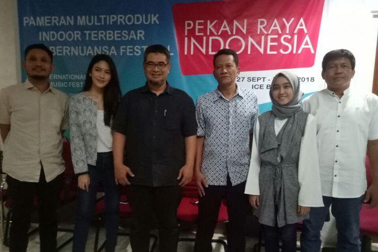 Suasana jumpa pers International Indie Music Festival di kantor Deteksi Production, Kebayoran Baru, Jakarta Selatan, Kamis (7/6/2018).