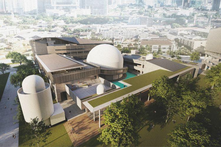 progres revitalisasi pusat kesenian dan kebudayaan Taman Ismail Marzuki (TIM) telah mencapai 69,36 persen.
