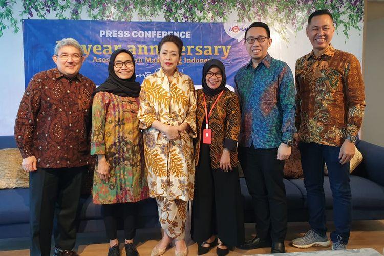 Dewan pengurus AGMARI dalam Simposiun Guru Marketing Indonesia diadakan AGMARI (Asosiasi Guru Marketing Indonesia) sekaligus memeringati HUT pertama di Jakarta pada Jumat (6/3/2020).