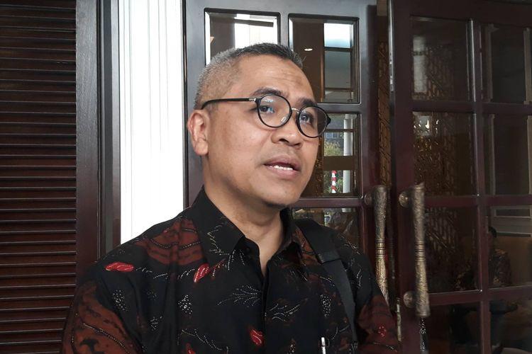 Pakar Kebijakan Publik dari Universitas Indonesia (UI) Eko Prasojodalam diskusi Tantangan Persoalan Ekonomi Sosial dan Pemerintahan Ibu Kota Baru, di kawasan Jakarta Selatan, Jumat (23/8/2019).