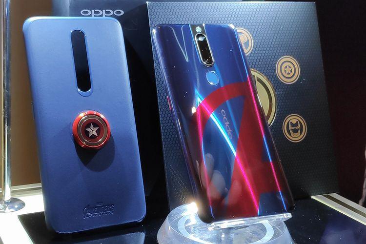 Oppo F11 Pro Marvel?s Avengers Limited Edition dalam acara peluncurannya di Jakarta, Rabu (24/3/2019).