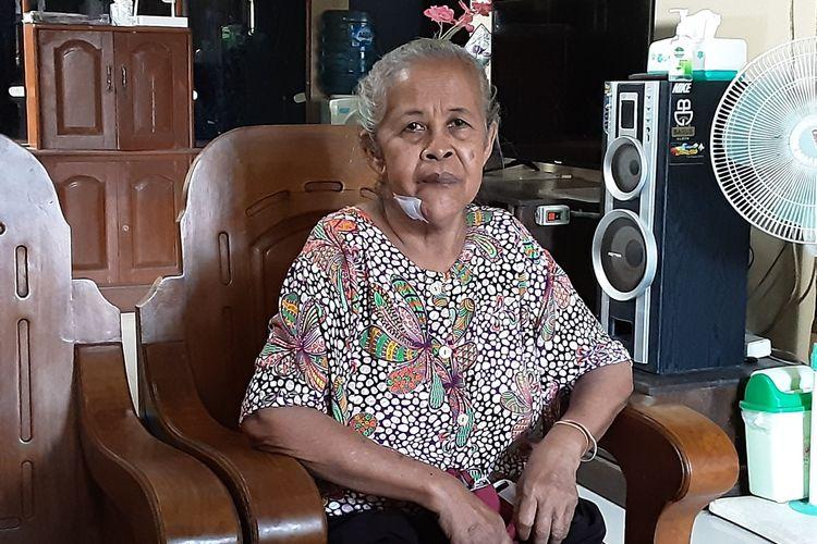Sutimah, warga Kaliwungu Kendal yang menjadi korban pelemparan batu. KOMPAS.COM/SLAMET PRIYATIN