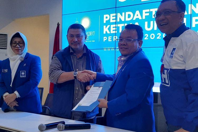 Mulfachri Harahap di Sekretariat DPP PAN di Jl Daksa I, Kebayoran Baru, Jakarta, Sabtu (8/2/2020).
