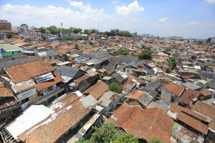 Pemukiman padat penduduk di kawasan Tamansari terancam tergusur proyek rumah deret yang akan dibangun oleh Pemkot Bandung, Jumat (6/10/2017)