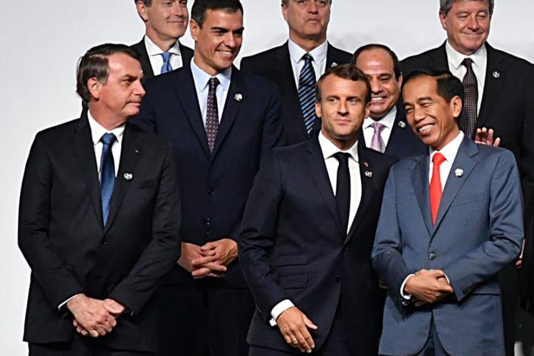 Presiden Jokowi di KTT G20, di Osaka, Jumat (28/6/2019).