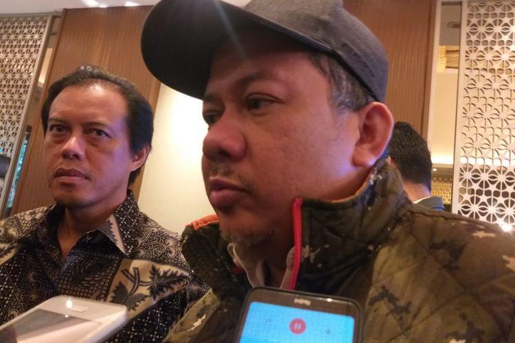 Mantan Wakil Ketua DPR Fahri Hamzah usai sebuah diskusi di kawasan Senayan, Jakarta, Senin (17/2/2020).
