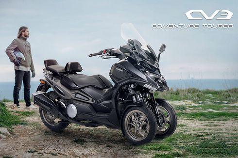 Kymco Luncurkan Skutik Roda Tiga CV3, Saingan Piaggio MP3