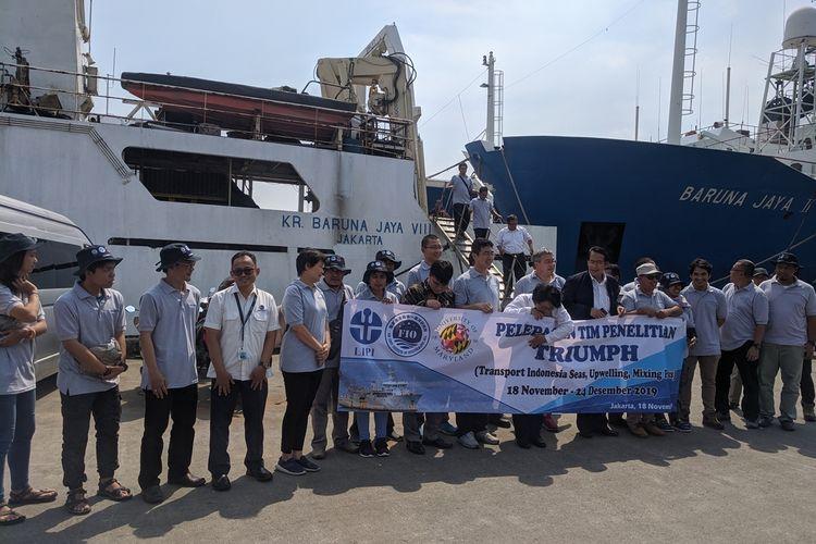 Peneliti Lipi yang akan berangkat pada hari ini, Senin (18/11/2019) ke Selatan Pulau Jawa untuk melakukan penelitian laut dalam