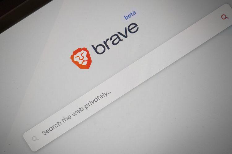 Mesin pencari Brave Search.