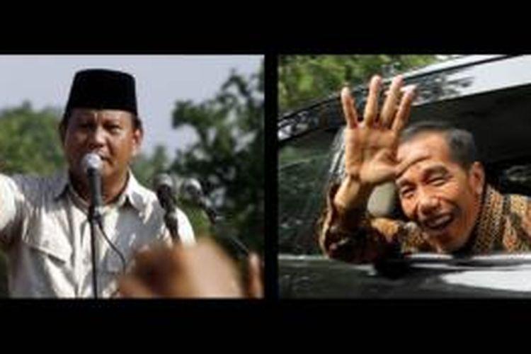 Prabowo Subianto (kiri) dan Joko Widodo (kanan)