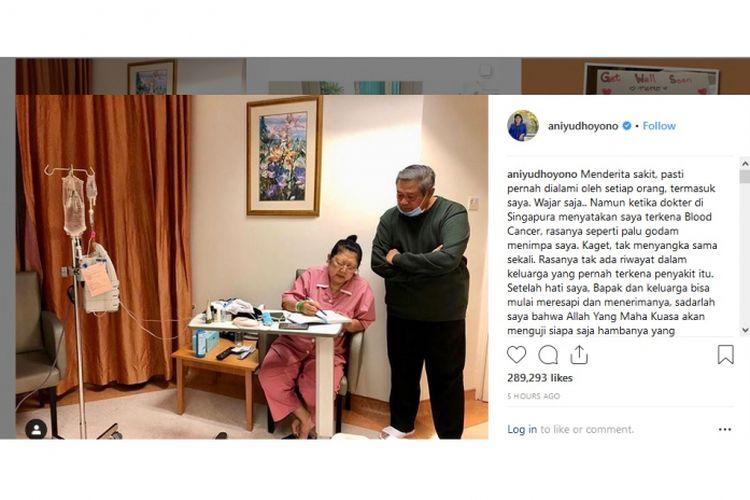 Divonis Kanker Darah Ani Yudhoyono Yakin Bisa Melawan